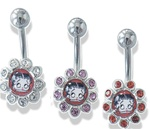 Betty Boop Navel Ring in side Flower - As low as 0.77