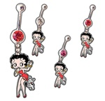 Betty Boop Belly Navel Dangle with Dog - As low as 1.75