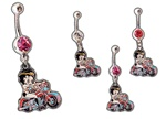 Betty Boop Riding Motorcycle Belly Navel Dangle As low as 1.75