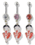 Navel Dangle Betty Boop Red Dress Marilyn Monroe Pose