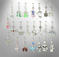Fancy Navel Rings Animals Collection Dangles - As low as $1.75