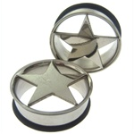 Surgical Steel Single Flared Star Plugs