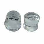 Clear Crystal Multi Faced Cut Saddle Plugs
