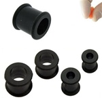 Black Double Flare Flexible Plugs [PL133-BLK] - As low as $0.39