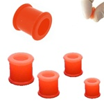 Orange Double Flare Flexible Plugs [PL133-ORG] - As low as $0.39
