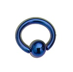 Titanium Anodized Blue Captive Bead Ring Coated BCR - As low as $0.58